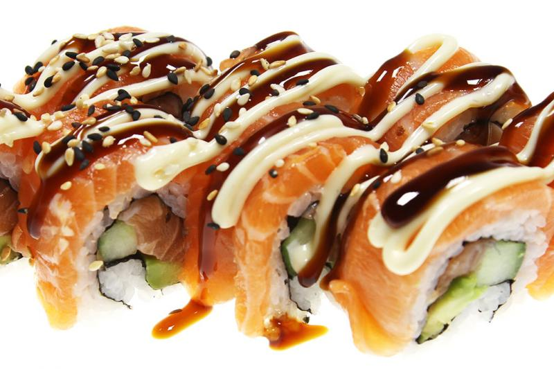 Soft Shell Salmon Roll