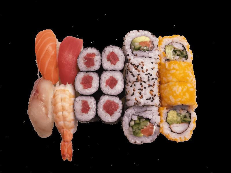 54B. Sushi set 1 pers. zonder sashimi (18st.)