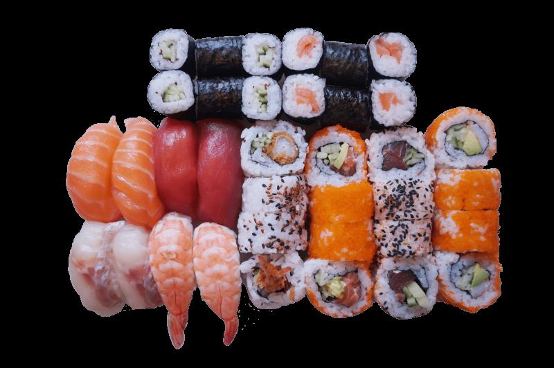 53B. Sushi set 2 pers. zonder sashimi (36st.)