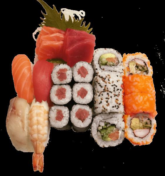 54A. Sushi set 1 pers. met sashimi (24st.)