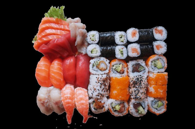53A. Sushi set 2 pers. met sashimi (48st.)