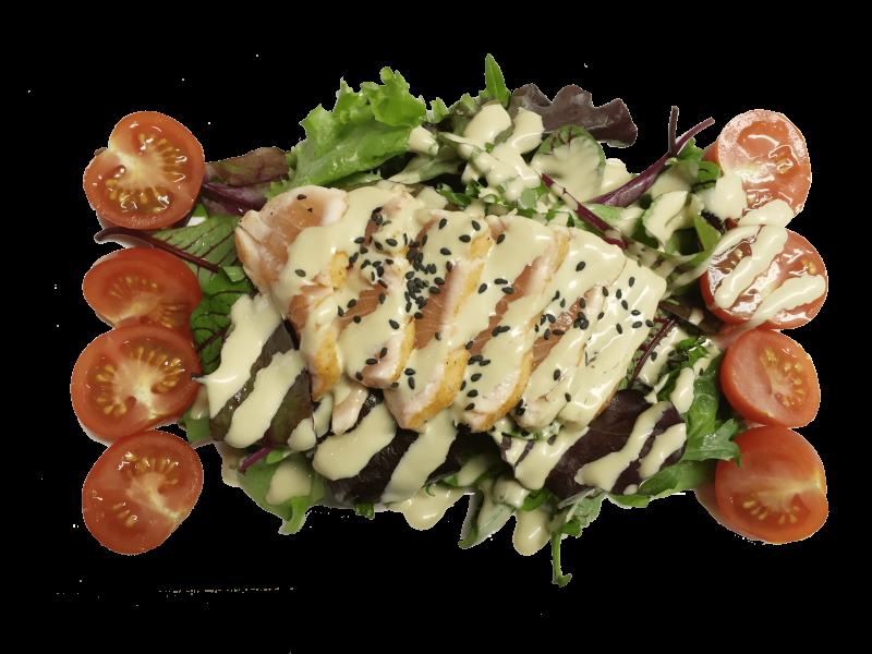 66. Sake Tataki Salad